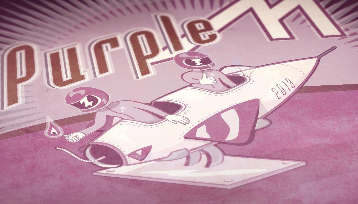 Cartes de voeux Purple M 2013